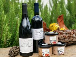 Herbst-Winter Genuss mit Pâté und Rotwein