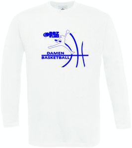 Lonsleeve White mit BBZ Opladen Jumpman Logo und Wunschnamen
