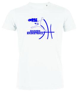 T-Shirt White mit BBZ Opladen Jumpman Logo und Wunschnamen