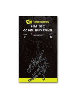 RidgeMonkey RM-TEC Quick Change Heli Ring Swivel Size 8