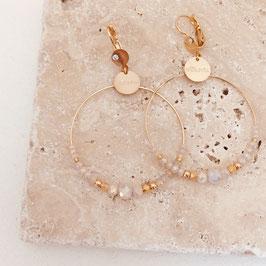 Boucles d'oreilles CHLOE / Coloris Rose opal