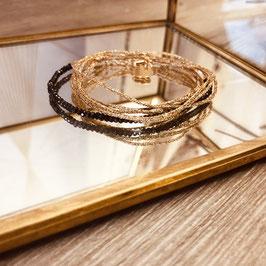Bracelet LÉO / Noir Doré