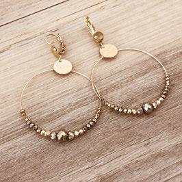Boucles d'oreilles CHLOE / Coloris Pyrite