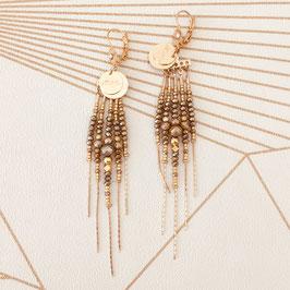 Boucles d'oreilles DIVA / Coloris Pyrite doré
