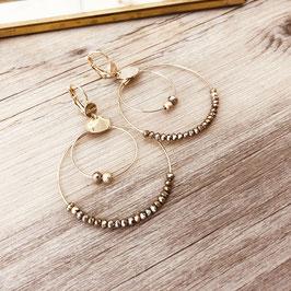 Boucles d'oreilles OLIVIA /  Pyrite