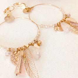 Boucles d'oreilles GIPSY / Rose Opal