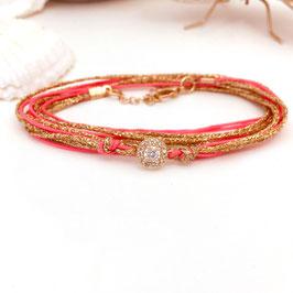Bracelet ADÈLE / Rose corail