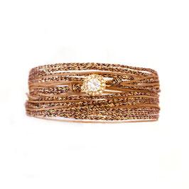 Bracelet ADELE / Beige Nude Doré