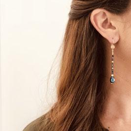Boucles d'oreilles JEANNE/ Pyrite Doré
