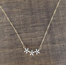 Collier FLOWERS doré