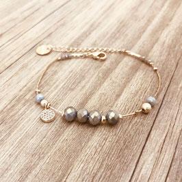 Bracelet PAULA / New gris Doré