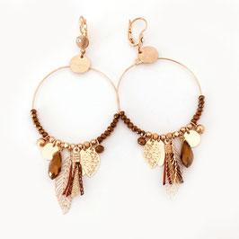 Boucles d'oreilles GIPSY / coloris CAMEL