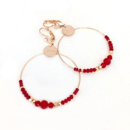 Boucles d'oreilles CHLOE / Coloris Rouge