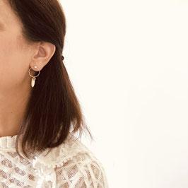 Boucles d'oreilles JULIETTE / Blanc