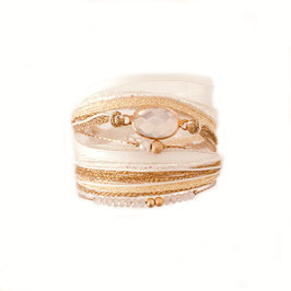 Bracelet PAOLA / Blanc Opal Doré
