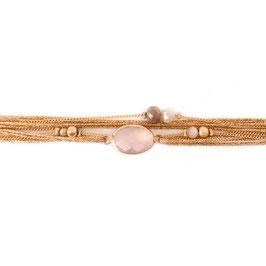 Bracelet JULES /Rose Opal doré