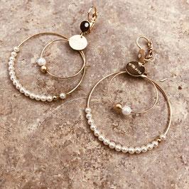 Boucles d'oreilles OLIVIA / perles Nacrées