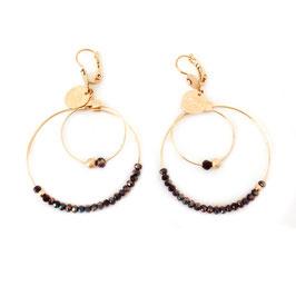 Boucles d'oreilles OLIVIA / Coloris New Noir
