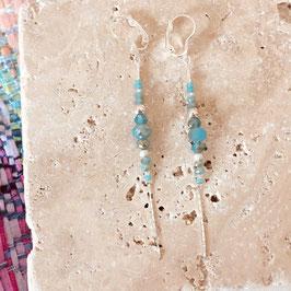 Boucles d'oreilles ANNABELLE / Seychelles Argenté