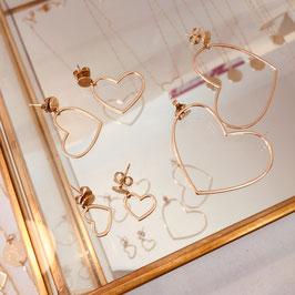 Boucles d'oreilles COEUR / Moyen modèle Doré