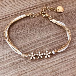 Bracelet MARCUS / Blanc Doré