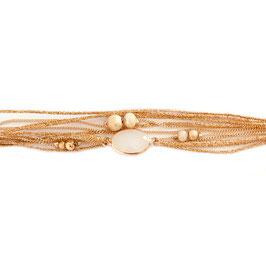 Bracelet JULES /Beige doré
