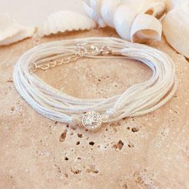 Bracelet ADÈLE / Blanc Plaqué Argent