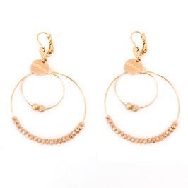 Boucles d'oreilles OLIVIA / Beige