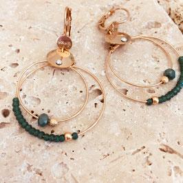 Boucles d'oreilles MINI OLIVIA / Vert
