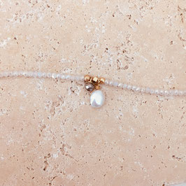 Bracelet OSCAR Blanc, Gris metalic  et Nacré