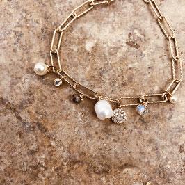 Bracelet HUGO / Gris et Blanc nacré
