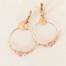 Boucles d'oreille MINI CHLOÉ / Rose poudré