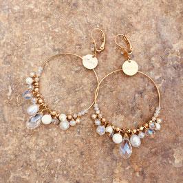 Boucles d'oreilles FROUS FROUS / Blanc Opal