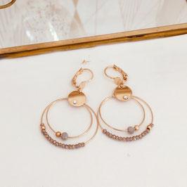 Boucles d'oreilles MINI OLIVIA / Gris polaire