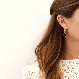Boucles d'oreilles GIORGIA / Vert