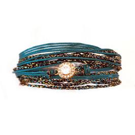 Bracelet ADELE / Vert Tropic Doré