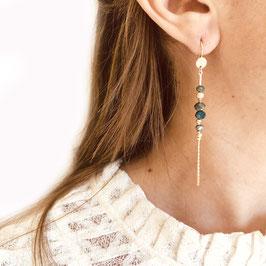 Boucles d'oreilles ANNABELLE / Pyrite Doré