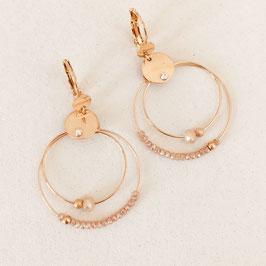 Boucles d'oreilles MINI OLIVIA / Champagne