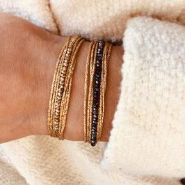 Bracelet LÉO / Vert Tropique Doré
