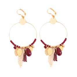 Boucles d'oreille GIPSY / Rouge doré