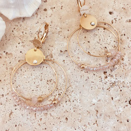 Boucles d'oreille MINI OLIVIA / Rose poudré