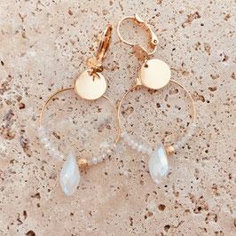 Boucles d'oreilles MIRANDA / blanc opal