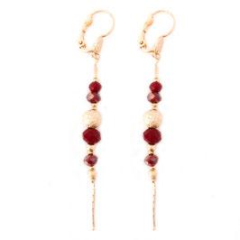 Boucles d'oreilles ANNABELLE / Rouge Doré