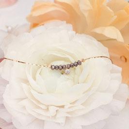Bracelet MELCHIOR / Gris metalic