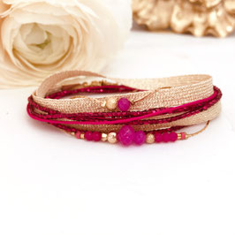 Bracelet FERNANDO / coloris Fushia