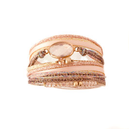 Bracelet PAOLA / Rose Poudré Doré