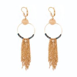 Boucles d'oreilles NOÉLIE / Vert Tropique Doré