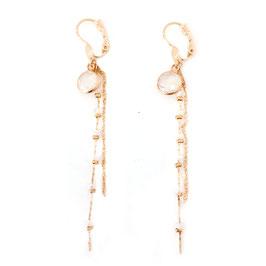 Boucles d'oreilles CARLA / Blanc opal Doré