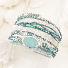 Bracelet PAOLA / Caraïbe Plaqué Argent