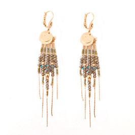 Boucles d'oreilles DIVA / Coloris Kaki doré